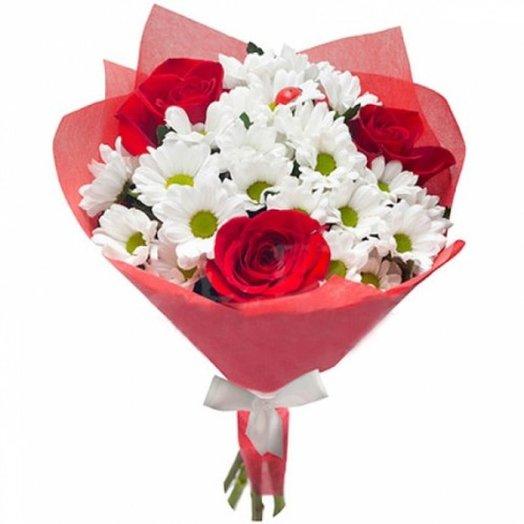 Букеты хризантемы и розы, доставка