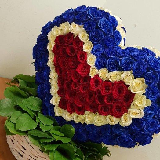 3-D сердце Триколор