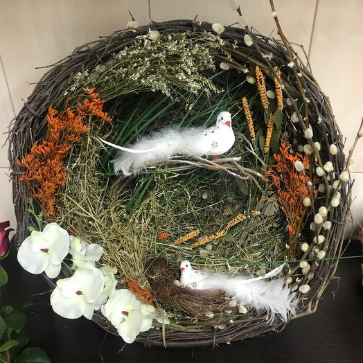 Гнездышко декоративное: букеты цветов на заказ Flowwow