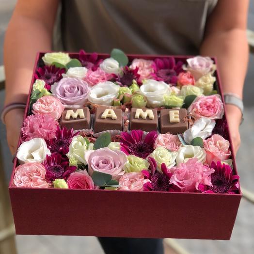 Коробочка красоты маме: букеты цветов на заказ Flowwow
