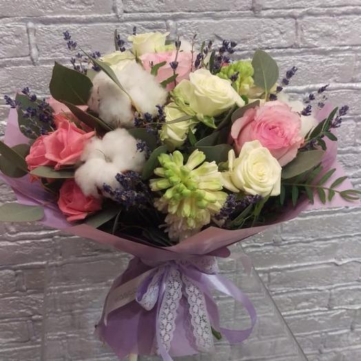 Лавандовый хлопок: букеты цветов на заказ Flowwow