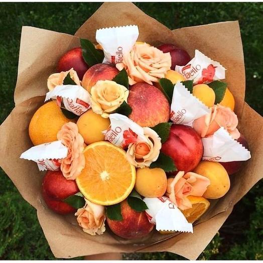 Фруктовый букет «Солнце»: букеты цветов на заказ Flowwow
