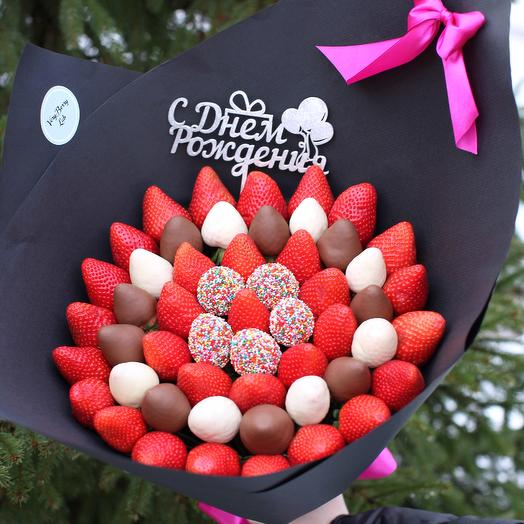 Букет из клубники в бельгийском шоколаде