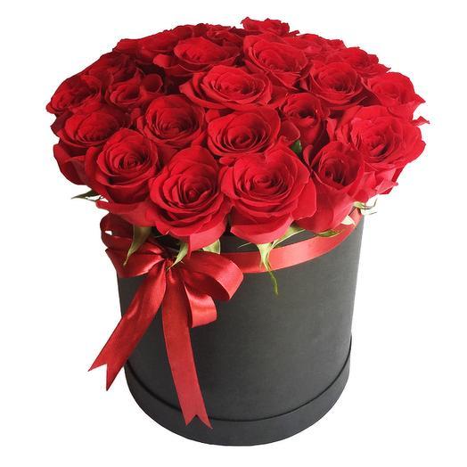Розы Эквадор Премиум в шляпной коробке: букеты цветов на заказ Flowwow