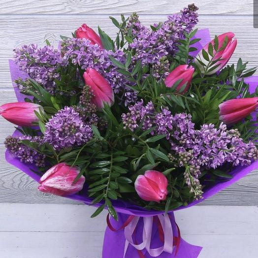 Сиреневая весна: букеты цветов на заказ Flowwow