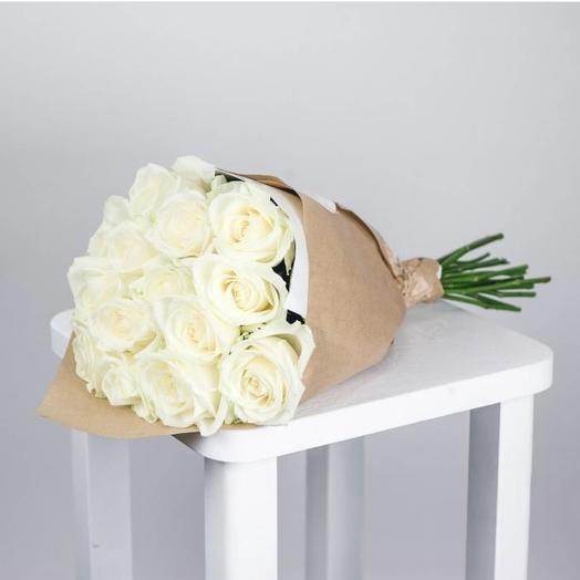 Букет из 15 белых роз: букеты цветов на заказ Flowwow