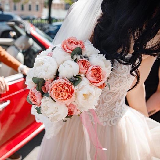 """Букет невесты """"Персиковое фрапе"""": букеты цветов на заказ Flowwow"""
