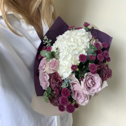 Сливочная черника: букеты цветов на заказ Flowwow