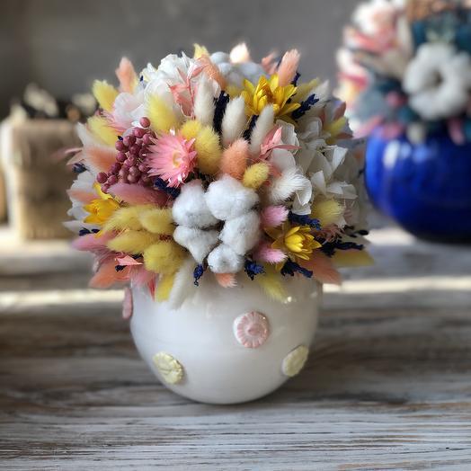 Интерьерная солнечная милашка в стильной Керамике: букеты цветов на заказ Flowwow