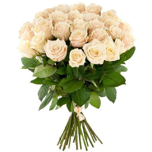 """Букет роз """"Экрю"""": букеты цветов на заказ Flowwow"""