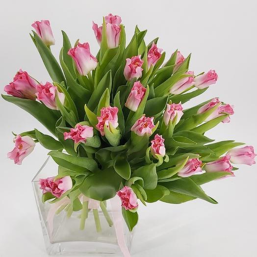 Тюльпаны Корона Династии - 25: букеты цветов на заказ Flowwow
