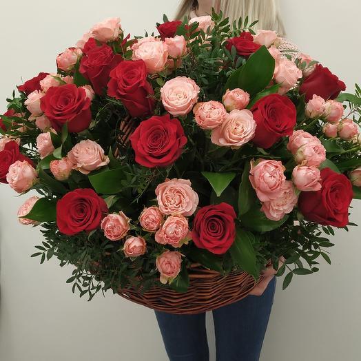 """Королевская корзина роз """"Подари любовь"""""""