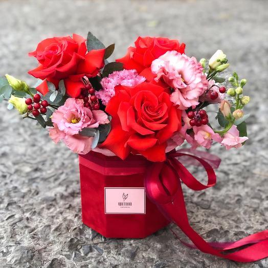 Бархатная Коробочка 089: букеты цветов на заказ Flowwow