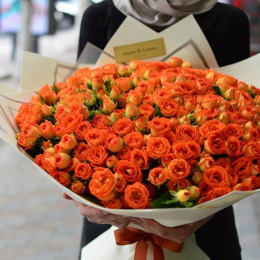 51 кустовая роза B-BUBBLES: букеты цветов на заказ Flowwow