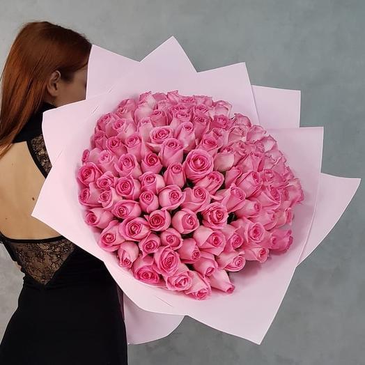 Любимой 101 роза. Букет 90