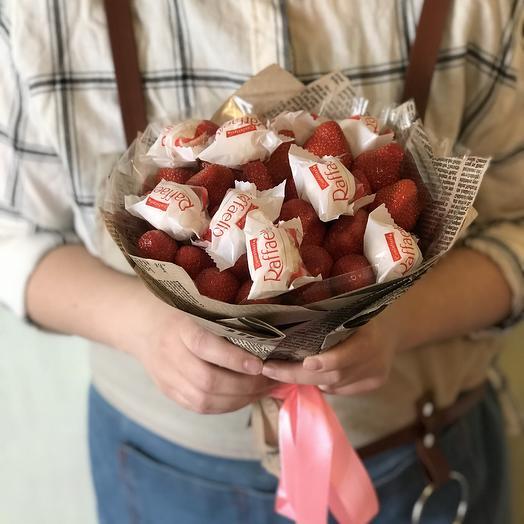 Клубничный рафаелло: букеты цветов на заказ Flowwow