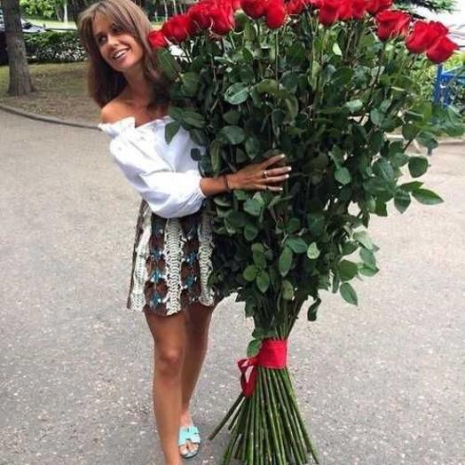 Гигантские розы 150 см - 35 шт