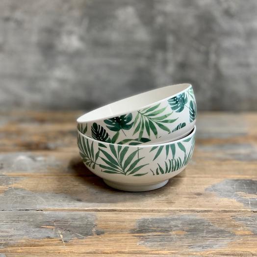 Керамические пиалы с растительным орнаментом