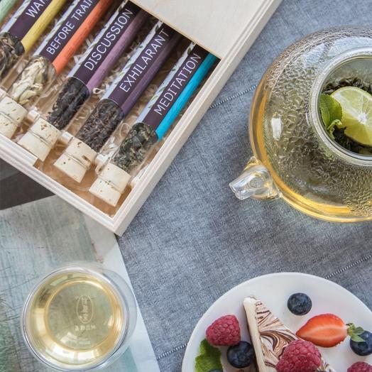 Gift set for men women - Tea in test tubes (6 flavors)