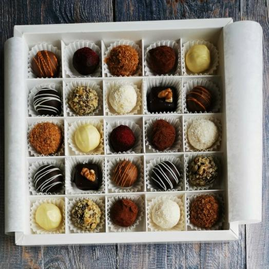 Cheese truffles (sweets) 25 pcs., assorted from 9 flavors