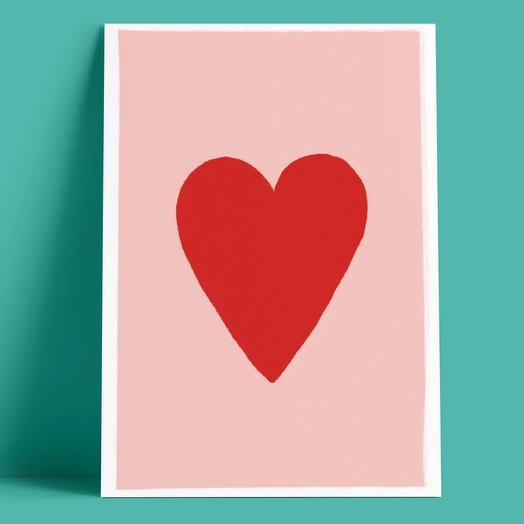 Открытка «Сердечко»