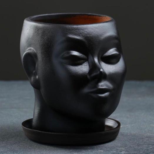 Фигурное кашпо «Голова»