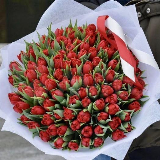Букет 101 тюльпан