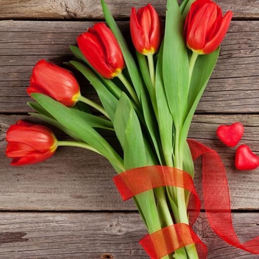 Букет тюльпанов классик