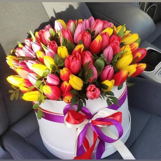 Цветы в коробке 101 микс