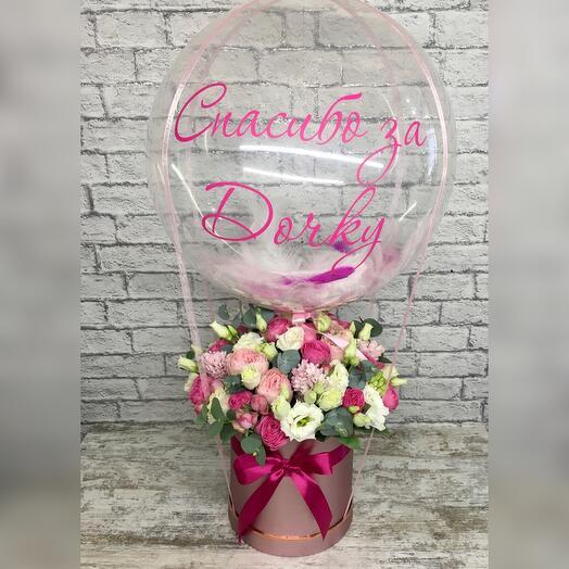 Цветы и шар Баблс