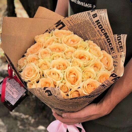 21 роза Пич Аваланж