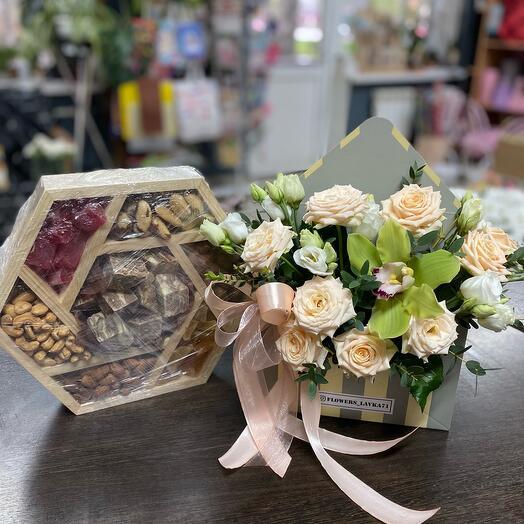 комбо «цветы+сухоцветы» 1