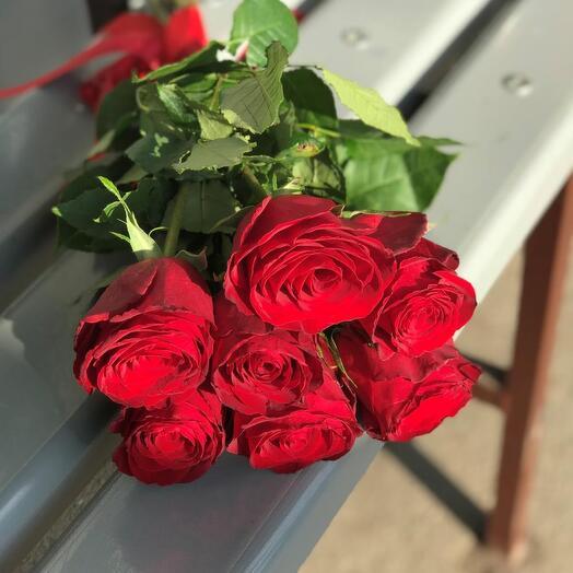 7 роз Эквадор 60 см
