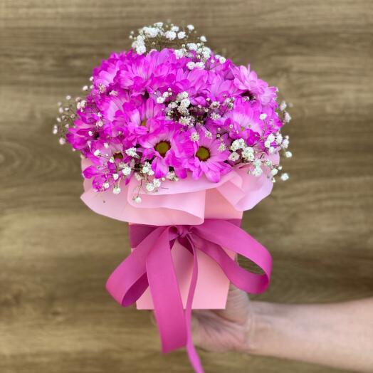 Композиция Розовой Хризантемы