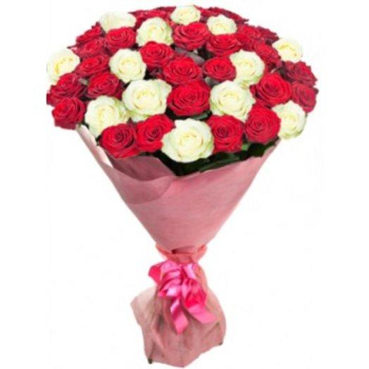 Букет 45 роз: букеты цветов на заказ Flowwow