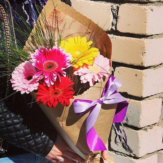 5 гербер микс: букеты цветов на заказ Flowwow