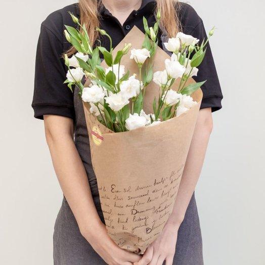 Букет белоснежной эустомы: букеты цветов на заказ Flowwow