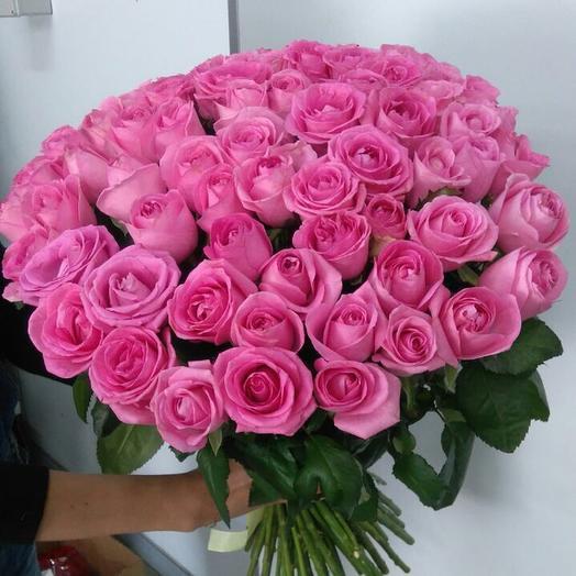 Букет из 75 розовых роз 60 см: букеты цветов на заказ Flowwow