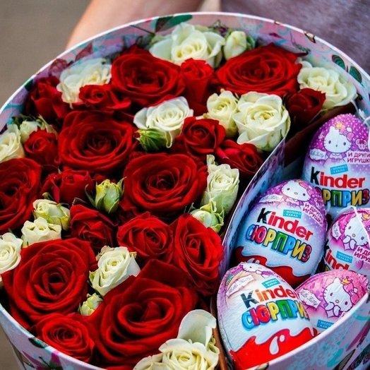Коробочка Для двоих: букеты цветов на заказ Flowwow