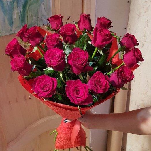 Роза Prestige в дизайн фетре 60см от Floristic World.: букеты цветов на заказ Flowwow