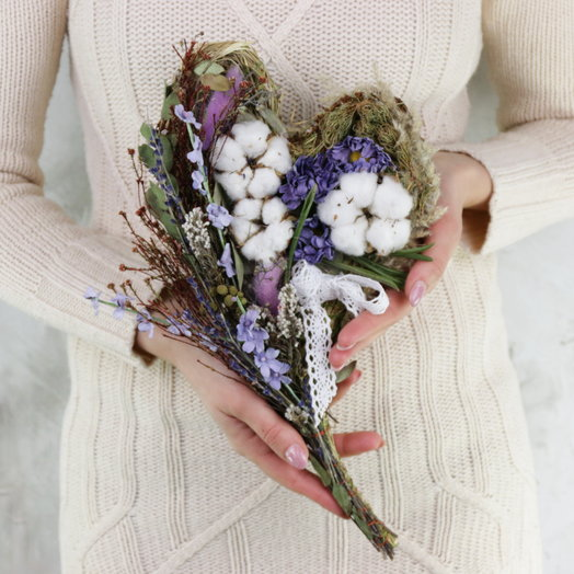 Композиция из сухоцветов Нежность