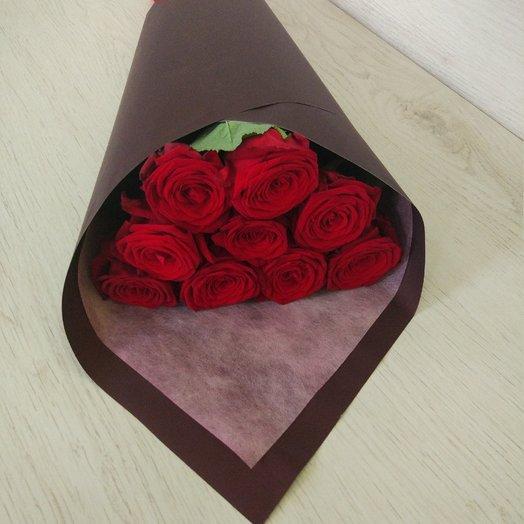 9 красных роз в букете: букеты цветов на заказ Flowwow