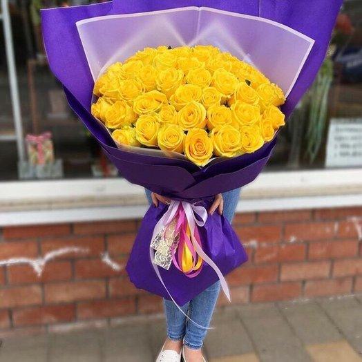 Букет из 45-ти желтых роз