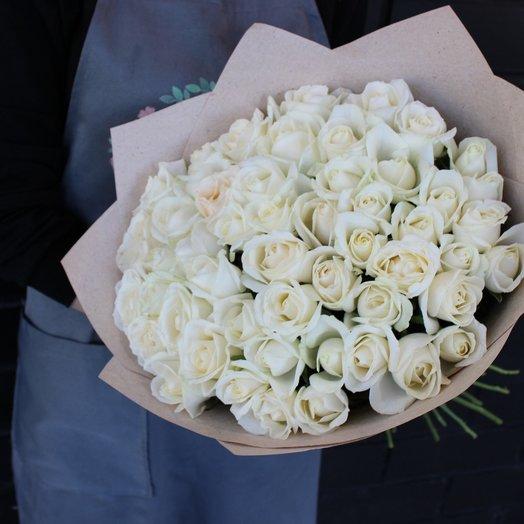 Розы 51шт: букеты цветов на заказ Flowwow