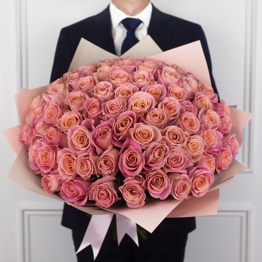 Букет из 75 эквадорских роз: букеты цветов на заказ Flowwow