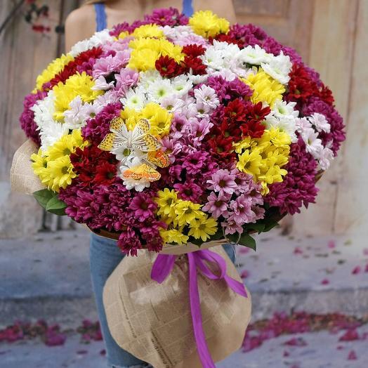 Поляна из хризантем: букеты цветов на заказ Flowwow