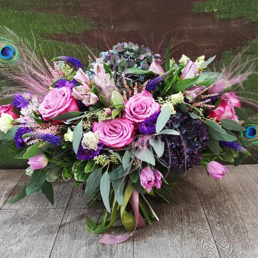 Павлиний хвост: букеты цветов на заказ Flowwow