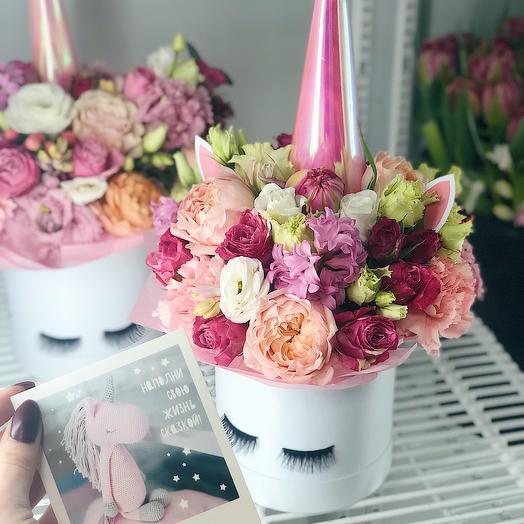Волшебный единорог mini: букеты цветов на заказ Flowwow