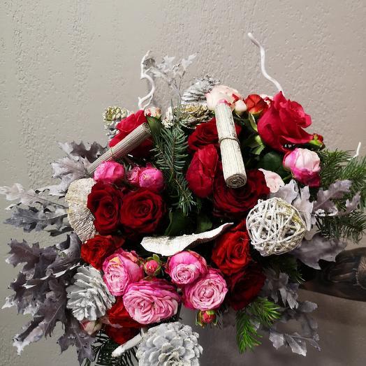 Зимняя фантазия: букеты цветов на заказ Flowwow