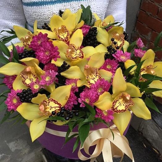 """""""Жёлтое кружево"""" бокс с 11  орхидеями: букеты цветов на заказ Flowwow"""